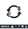 Exchange icon flat vector image