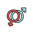 female and male symbols man and woman sign vector image vector image