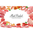 gastronomic meat products sketches vector image vector image