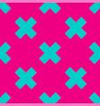 geometric texture seamless pattern azure crosses vector image vector image