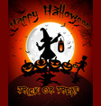 halloween on full moon background vector image vector image