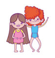 happy children day smiling little boy and girl vector image vector image