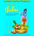 happy vishu new year hindu festival celebrated in vector image vector image