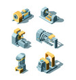 heavy industry working factory line metal vector image vector image