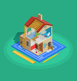 Home Repair Isometric Template vector image vector image