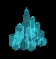 isometric holography city vector image vector image