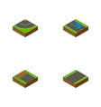 isometric way set of unilateral road plash and vector image vector image