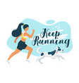 keep running flat vector image
