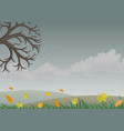 landscape with autumn nature vector image vector image