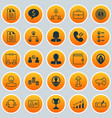 management icons set collection of team structure vector image vector image