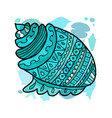 marine background ornate seashell for your design vector image vector image
