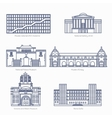 Monuments thin line icons National Gallery vector image