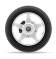 motorcycle wheel 01 vector image vector image