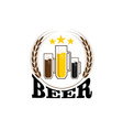 mugs with beer vector image vector image