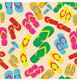 Multicolored flip flop pattern vector image