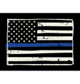 Police Support Flag Grunge Hand Drawn vector image vector image