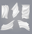 realistic white flag mockups vector image vector image