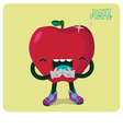 Red Apple Character Isolated vector image vector image