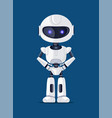 robot of white color poster vector image