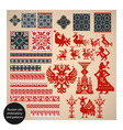 russian old embroidery vector image