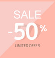 sale poster with percent vector image vector image