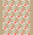seamless pattern with gift box vector image vector image