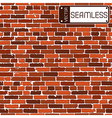 Seamless texture of brown realistic old brick wall vector image vector image