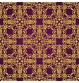Seamless yellow and violet pattern in arabic or vector image vector image