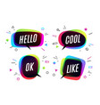set banner speech bubble poster vector image