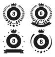Set of Vintage Billiard Club Badge and Label vector image vector image