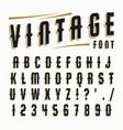 set of vintage font vector image vector image