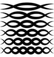 set wave patterns for decoration wave vector image vector image