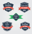 shields and ribbons flat set vector image