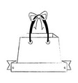 shopping bag with ribbon vector image vector image