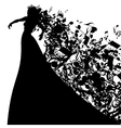 Silhouette of Opera Singer and Musical Symbols vector image vector image