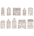 Sketch houses vector image