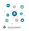 solar energy colored circle concept with simple vector image