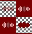 sound waves icon bordo and white icons vector image vector image