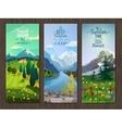 Summer landscape vertical banners set vector image vector image