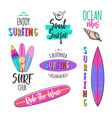 surfer logo templates vector image
