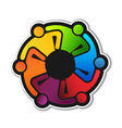 Teamwork Hug 6 Logo vector image vector image