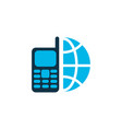 telephone icon colored symbol premium quality vector image vector image
