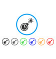 time bomb rounded icon vector image