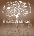 tree shaped made back to school icons vector image vector image