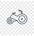 tricycle toy concept linear icon isolated on vector image
