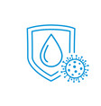 virus protection drop on shield icon vector image