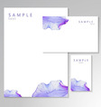 Watercolor card with Purple flower petal vector image vector image