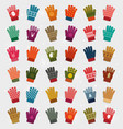 winter handgloves collection vector image vector image