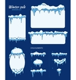 winter sale stickers tags and banners vector image vector image