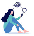woman with mental health problems have online vector image